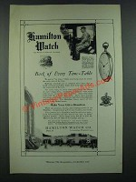 1919 Hamilton Watches Ad - Back of Every time-table