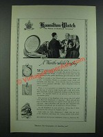 1919 Hamilton Watches Ad - A Worth-While Trophy