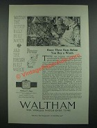 1919 Waltham 7 1/2 Ligne Watch Ad - Know These Facts