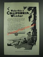 1919 United States Railroad Administration Ad - A California Winter