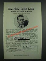 1919 Pepsodent Tooth paste Ad - See How Teeth Look