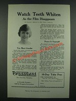 1919 Pepsodent Tooth paste Ad - Watch Teeth Whiten