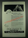 1919 Colgate's Handy Grip Shaving Stick Ad - Like Putting a New Pen In