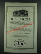 1919 New Jersey Zinc Ad - Research