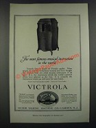1919 Victor Victrola Phonograph Ad - Most Famous Musical Instrument