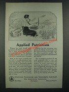 1919 American Telephone and Telegraph Company Ad - Applied Patriotism