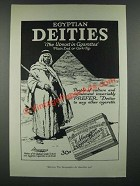 1919 Egyptian Deities Cigarettes Ad - The Utmost