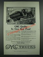1919 GMC Trucks Ad - GMC Quality Its Own Best Proof