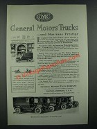 1919 GMC General Motors Trucks Ad - Business Prestige
