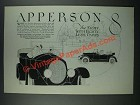 1919 Apperson 8 Car Ad - With Eighty Less Parts