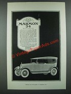 1919 Marmon 34 Car Ad - Advanced Engineering