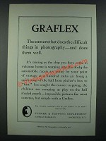 1919 Graflex Camera AD - Does the Difficult Things in Photography
