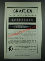 1919 Graflex Camera Ad - Uses All The Light There Is