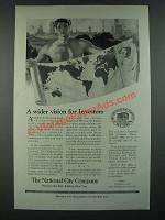 1919 The National City Company Ad - A Wider Vision For Investors
