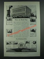 1919 The National City Company Ad - These are Bond Days