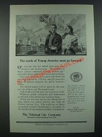1919 The National City Company Ad - The Needs of Young America Go Forward
