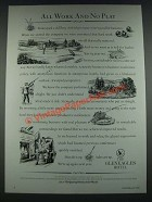 1987 The Gleneagle Hotel Ad - All Work and No Play