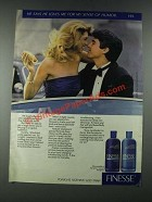 1987 Finesse Shampoo and Conditioner Ad - Loves Me For My Humor