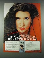 1987 L'Oreal Avantage Hair Color Ad - From Gray to Great