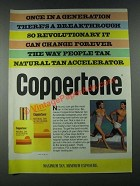 1987 Coppertone Natural Tan Accelerator Ad - Once in a Generation
