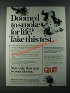 1987 Merrell Dow Pharmaceuticals Ad - Doomed to Smoke For Life?