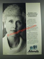 1987 Attends Briefs and Undergarment Ad - My Bladder Control Problem