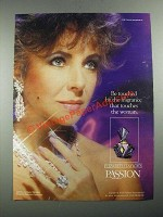 1987 Elizabeth Taylor's Passion Perfume Ad - Be Touched By