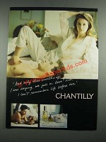 1987 Chantilly Perfume Ad - And Only Three Months Ago