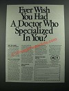 1987 American Academy of Family Physicians Ad - Ever Wish You Had