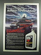 1987 Wolf's Head Oil Ad - Run With the Wolf Rebate