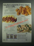1987 Mueller's Pasta Ad - 2 New Ridges and a Ruffle