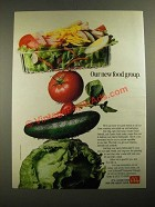 1987 McDonald's Salads Ad - Our New Food Group
