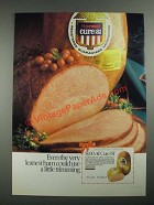 1987 Hormel Cure 81 Ham Ad - Even The Very Leanest Ham Could Use Trimming