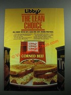 1987 Libby's Corned Beef Ad - The Lean Choice