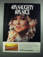 1987 Land O Lakes Country Morning Blend Ad - 40% Naughty 60% Nice