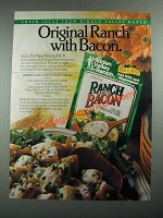 1987 Hidden Valley Ranch with Bacon Salad Dressing Mix Ad
