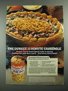 1987 Durkee French Fried Onions Ad - Hearty Beef 'n Potato Casserole recipe