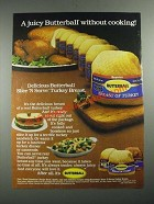 1987 Butterball Slice 'N Serve Turkey Breast Ad - Without Cooking