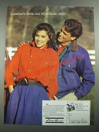 1987 Eddie Bauer Fashion Ad - Comfort's Been Our Style Since 1920