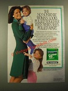 1987 No Nonsense Control Top Panty Hose Ad - Looks Pulled Together
