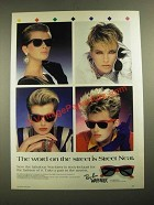 1987 Ray-Ban Wayfarer Sunglasses Ad - The Word On The Street is Streat Neat