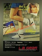 1987 L.A. Gear Street Slammers for Women Sneakers Ad - What is It About Her?