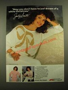 1987 Kmart Jaclyn Smith Holiday Collection Ad - A White Christmas