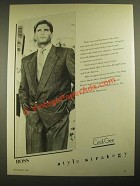 1987 Cecil Gee Hugo Boss Fashion Ad