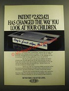 1987 Du Pont Mylar polyester film Ad - Changed The Way You Look at Children