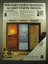 1987 Pella Control Window System Ad - Sunblock Glass, Heatlock Glass, Blinds