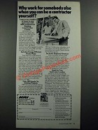 1987 NRI Building Construction Course Ad - Can Be A Contractor Yourself