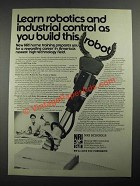 1987 NRI Robotics and Industrial Control Course Ad - Build This Robot