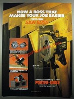 1987 Porter-Cable Saw Boss Ad - A Boss That Makes Your Job Easier