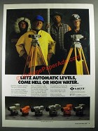 1987 Leitz Automatic Levels Ad - C3A, C40, B2C, B1, C3E and B2A